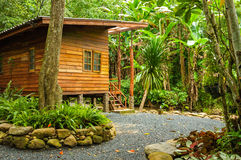 House in jungle and stream Royalty Free Stock Photography