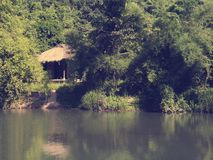 A house in the jungles of Vietnam. Toning Stock Image