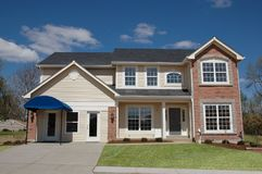 House just built for sale Royalty Free Stock Photos