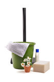 House keeping. Goods on white with clipping path Stock Photography