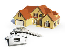 House and  key. House and house keys on white Stock Photography