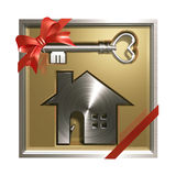 House and Key 3D. This graphic is architecture CG Royalty Free Stock Photo