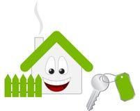 House key. Small house key. Vector illustration Royalty Free Stock Photo