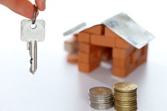 House and key Royalty Free Stock Photography