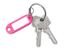 House key with blank label Royalty Free Stock Photography