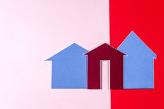 House and key on bright colorful background Royalty Free Stock Image