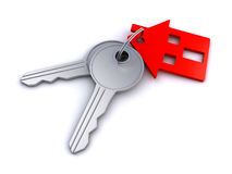 House key chain Royalty Free Stock Photography