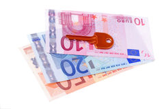 House key and euro banknotes Royalty Free Stock Photos