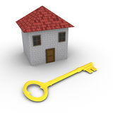 House with key in front of it Royalty Free Stock Image