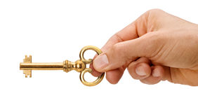 House Key In Hand Stock Photography