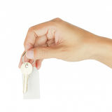 House key in hand Stock Photo
