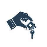 House key in hand icon Royalty Free Stock Photography
