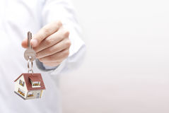 House key in hand Royalty Free Stock Photos