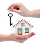 The house with key in hands Royalty Free Stock Photos