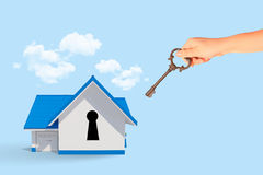 House with key hole Royalty Free Stock Images