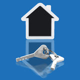 House key and home Stock Images
