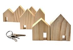 House Key, House on white. Stock Photography