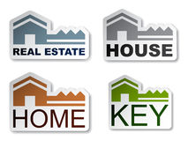 House key real estate stickers Royalty Free Stock Photography