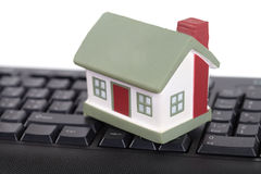 House and keyboard Stock Photo