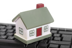 House and keyboard Royalty Free Stock Images