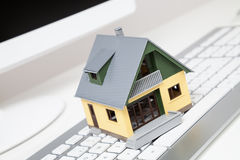 House on keyboard Royalty Free Stock Photography