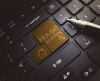House Keyboard Search Royalty Free Stock Image