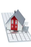 House on keyboard Royalty Free Stock Photo