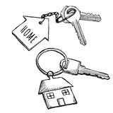 House keychain doodles Royalty Free Stock Photo