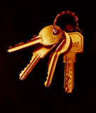 House keys. Warm tones stock images
