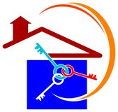 House and keys Royalty Free Stock Images