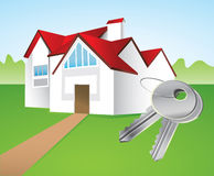 House and keys Stock Photos