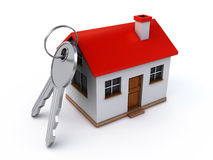 House and keys. House with keys on the white background (3d render Royalty Free Stock Photos