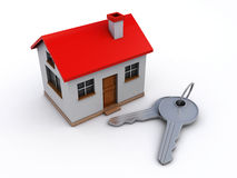 House and keys. House with keys on the white background (3d render Royalty Free Stock Photo