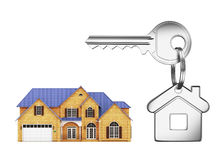 House and keys. Hose and key on a white background Royalty Free Stock Image