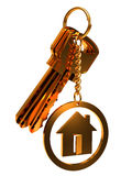 House keys. Close-up on a white background Stock Photo