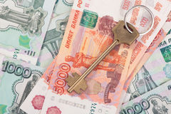 House keys and banknotes Royalty Free Stock Photo