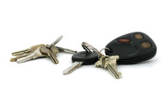 House keys and car keys Stock Images