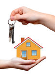 The house with keys in hands Royalty Free Stock Photos