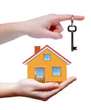 The house with keys in hands Stock Images