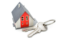 House with keys. Home buying, ownership or security concept royalty free stock images