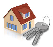 House and keys from a house Stock Images