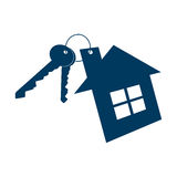 House and keys icon isolated on white background. Vector illustration. Royalty Free Stock Image