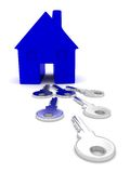 House keys illustration Royalty Free Stock Photo