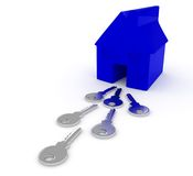 House keys illustration Royalty Free Stock Images