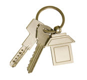House keys and keychain Stock Image