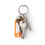 House keys with label Stock Images