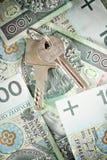 House keys, money Stock Photo