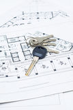 House keys and plan stock image
