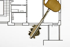 House keys and plan Stock Photo