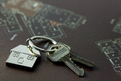 House keys for real estate concept Royalty Free Stock Images